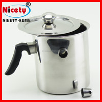 Kitchen Stainless Steel Small Double Wall Hot Water Milk Boiler