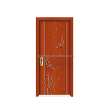 China zhejiang manufacture Open Style Swing water proof double glazed glass pvc door