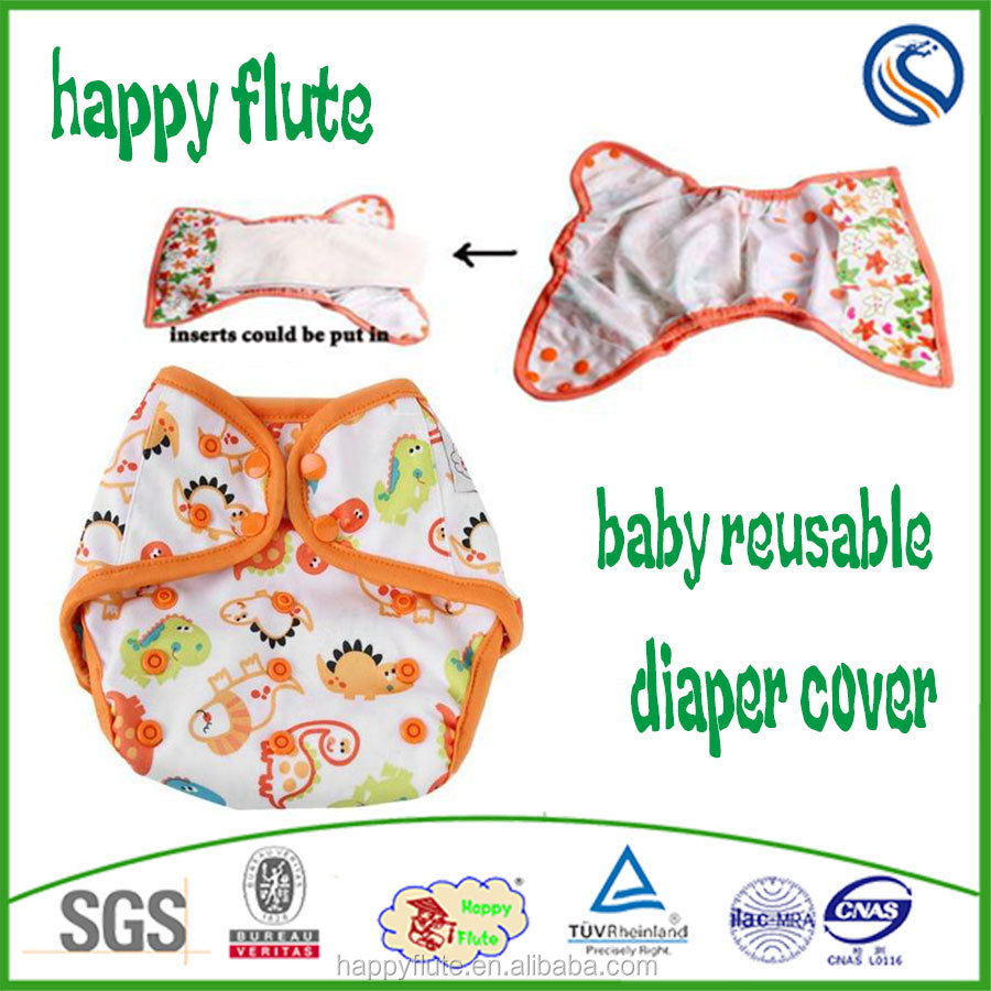 Happy flute baby cloth diaper cover leak guard reusable washable nappy wholesale
