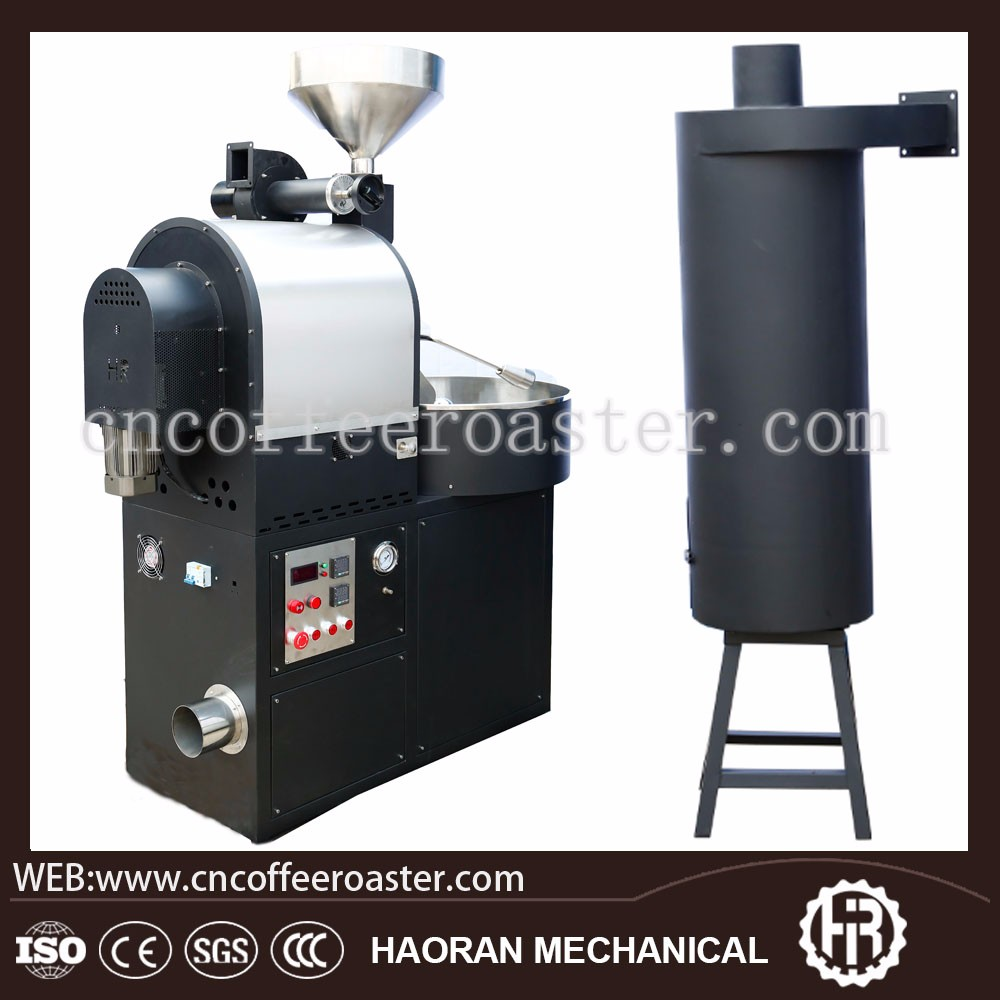 6 kg Stainless steel commercial coffee roaster machine with cooling system