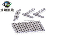 High quality Stainless Steel DIN438/GB73/ISO4766 Slotted set screws with flat/cup point