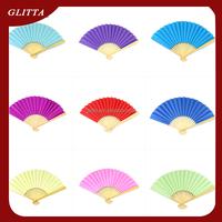 Glitta Chinese Popular Custom Cheap fan,Wooden Hand Fan,Folk art promitional gifts folding bamboo hand fan WF001