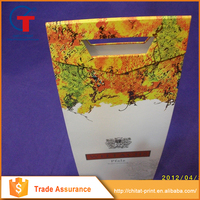 Wholesale China goods corrugated wine box with handle