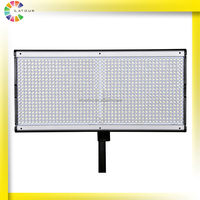 china factory professional dslr camera square led studio flat panel wall light 1000 bulbs dual-color 100w led flood light