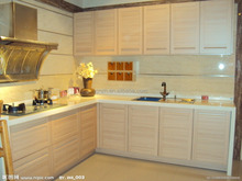 Simple design maple glazed melamine faced MDF kitchen cabinets