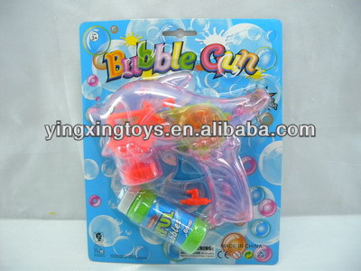 Kids toy friction dolphin flashing bubble gun