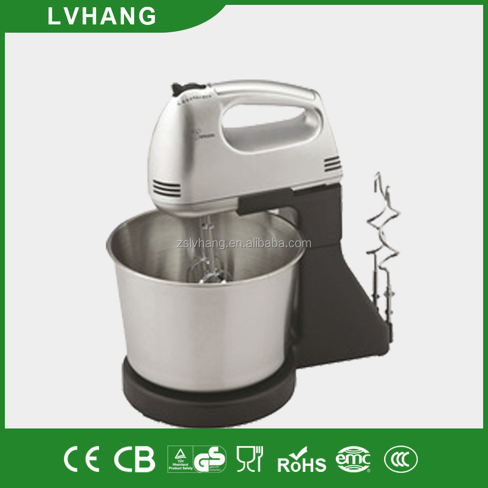 150W electric plastic stand mixer with bowl CE ROHS