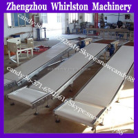 straight turning rubber belt sawdust conveyor