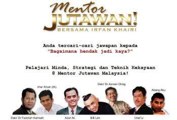 eBook Mentor Jutawan by Irfan Khairi