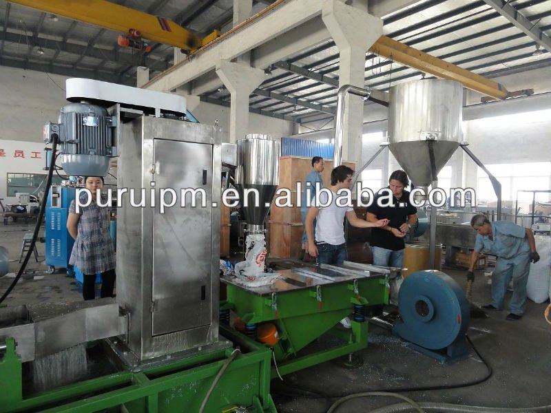 plastic recycling line for pelletizing plastic films/bags