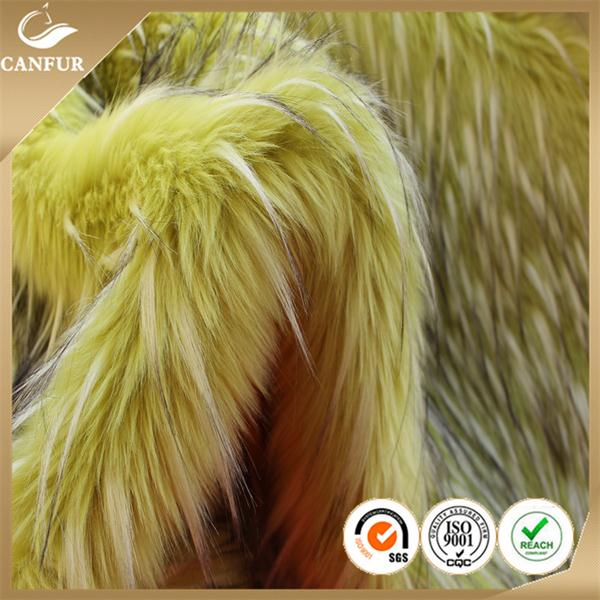 High quality printing plush/fake faux fur fabric/ artificial fur