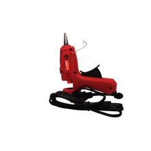 Red Black 25w hot melt glue gun for professional bonding fit 7mm glue stick