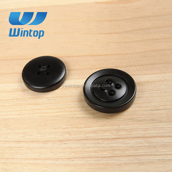 custom resin 4 hole round black man winter overcoat button