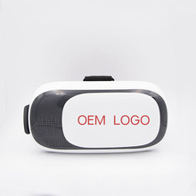 New products 2017 vr 3d glasses headset, vr 2.0 box with remote control for iPhone/Samsung