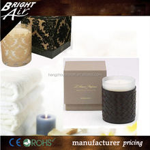 Wholesale soy gel wax candle in glass jar