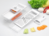 Grater Set With Container And Peeler, Manual Onion Rings Slicer Cutter