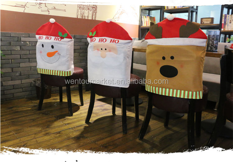 Wholesale Monogrammed Cartoon Christmas Chair Covers