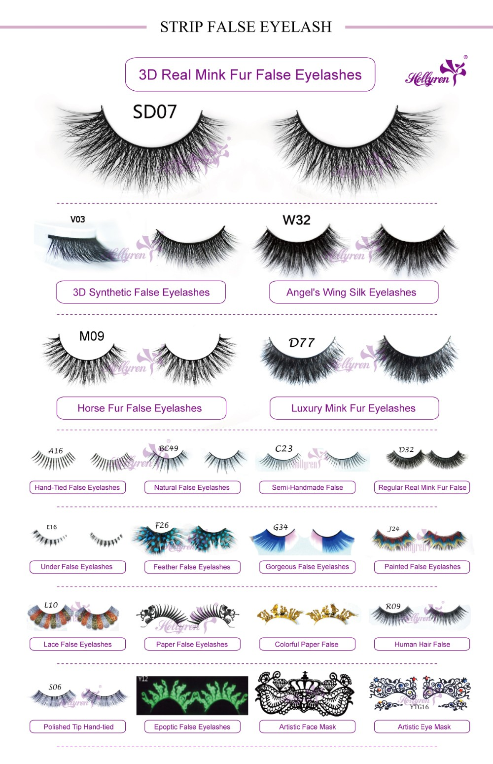 3D Top Luxury Fiber Silk Synthetic False eyelash