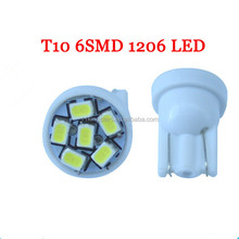 T10 194 168 1206 6SMD 6 LED Wedge Indication Clearance Light Bulbs led t10,T10 High-Power led Light bulbs,led headlight