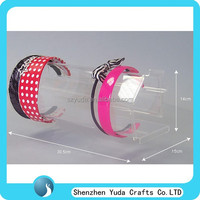 Counter style showing rack for head band, acrylic display for hair band wholesale