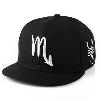 Cheap Factory Price Promotion Fashion Black Constellation Hat Snapback Baseball Cap