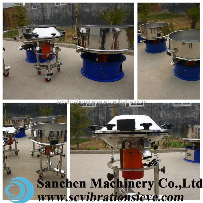 200 mesh skim milk powder high frequency stainless steel vibrating sieve equipment