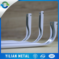 Rail curtains wholesale tinplate material double galvanized curtain rod