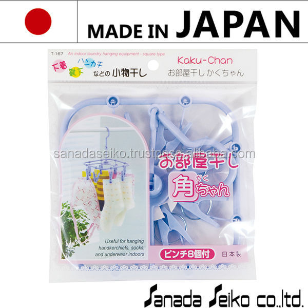 Reliable and Easy to use Plastic hanger Plastic square mini hanger with multiple functions made in Japan