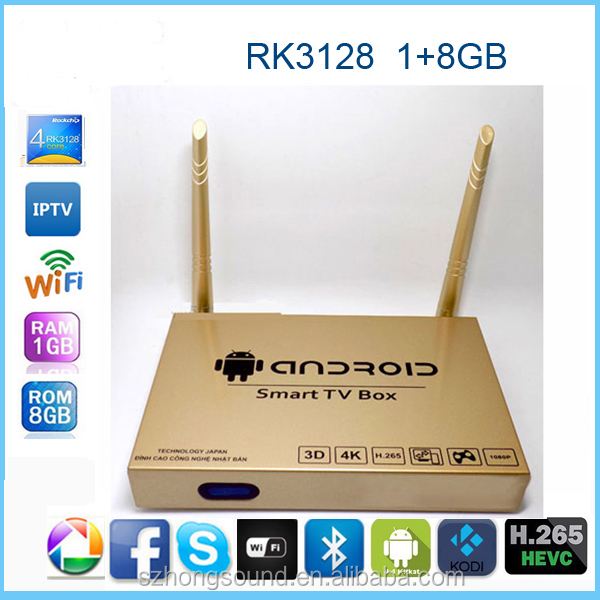 2017 The hottest Android 4.4 full hd 4k ultra output iptv set top tv box 1GB RAM 8GB ROM bluetooth 4.0 Kodi Pre-installed smart