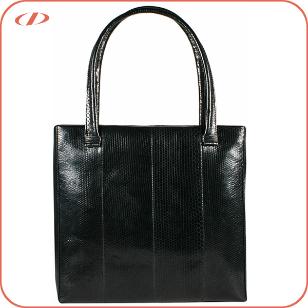 Women luxury exotic snake skin tote handbag