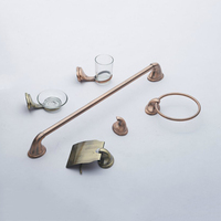 Wholesale hotel accessories bathroom set bronze
