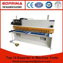 hydraulic guillotine cnc shearing machine for metal sheet cutting