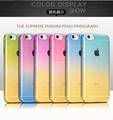 Case For iPhone 5 5s 6 6s 6 Plus Case Ultra Thin Transparent Gradient Color Design TPU Silicon Phone Covers Shell