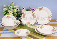 popular decal white ceramic restaurant soup bowls and plate dishes set