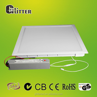40W 4000lm led flat panel wall light,recessed 2x2 led drop ceiling light panels,Ra>80,PF>0.95,5 years warranty