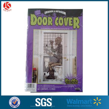 indoor & outdoor zombie door poster PE plastic windor cover for halloween decoration