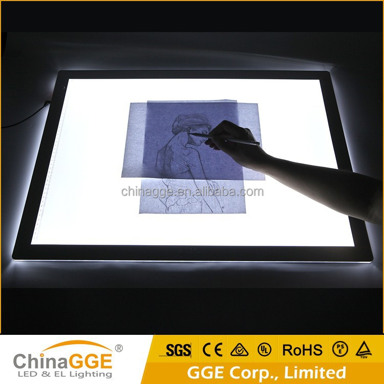 A2 Size Kids Toy Portable LED Light Table, Acrylic Panel LED Light Table Drawing