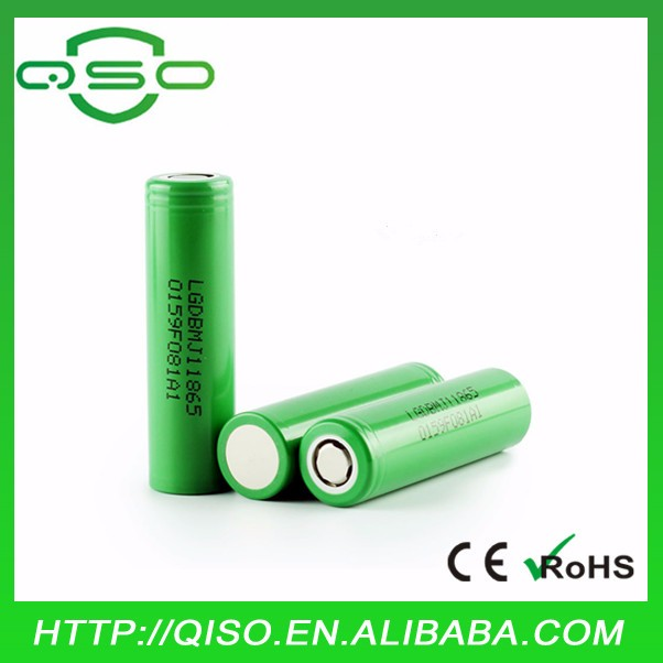 High capacity 18650 3500mah tablet pc 10A battery LG mj1 for 2016 vape mod