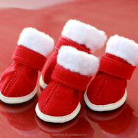 JML Berry NEW Red Christmas Fashion Warm Boots Shoes For Small Dog Puppy