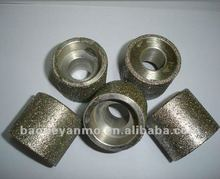 small electroplated diamond grinding wheel / head for internal hole and edge polishing of glass,ceramic,stone