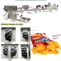 Automatic tortilla chips doritos food machine processing assembly line with fryer