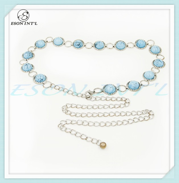 High Quality Fashion Lady Handmade Beads Chain Waist Belt