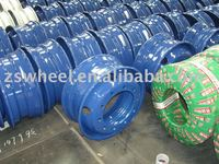we offer wheel rim for trucks, bus and trailers, and radial tires