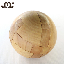 Wholesale ball shape educational wooden jigsaw puzzle