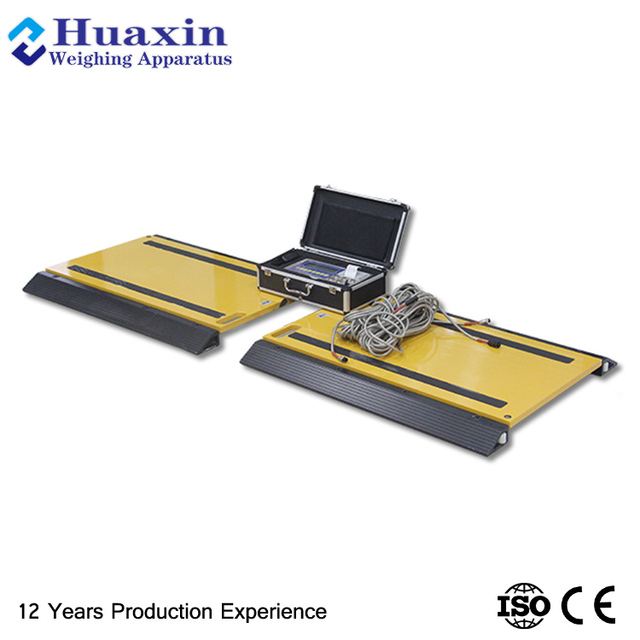 Axle scale type dynamic weigh pad
