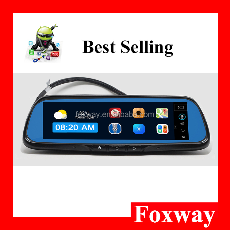 android smart gps dvr rear view mirror with 3G 4G calling