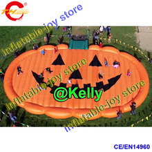 giant inflatable pumpkin jump pad for sale, big inflatable jump pad in pumpkin shape