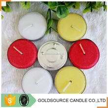 Promotional paraffin wax white tea light candle 8 hr