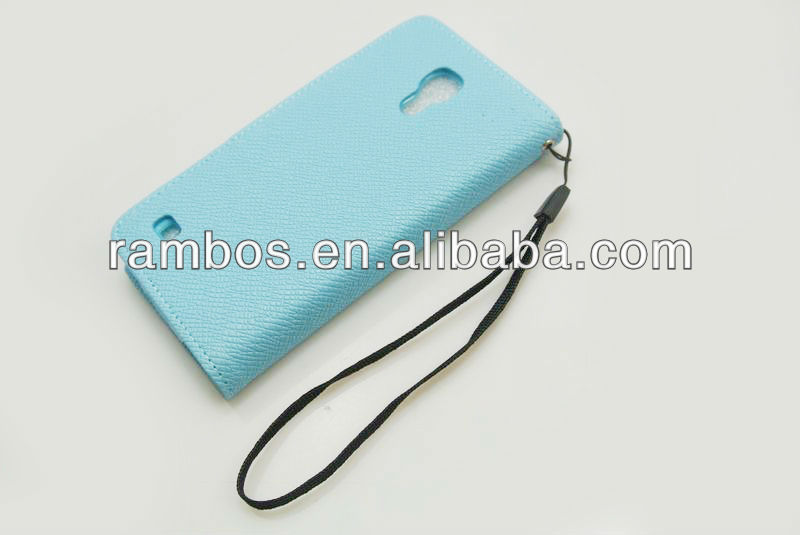 Cute color i9190 flip cover folio case,leather book case leather pouch for samsung galaxy s4 mini i9190