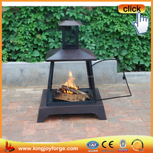 Restoring ancient way outdoor 360 degree view fire steel heating fireplace